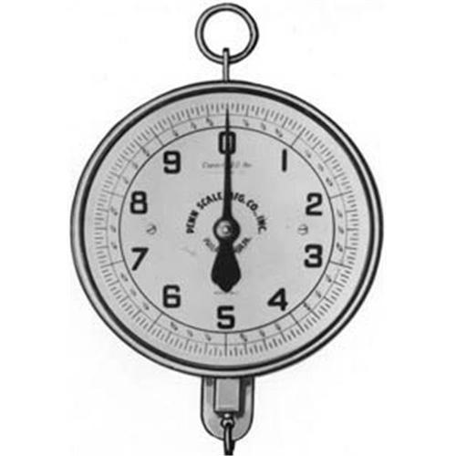 Penn Scale 820 FGD 20 Pound 8 inch Hanging Scale with Deep Pan and Double Dial
