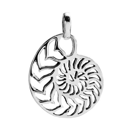 Rare Sliced Nautilus Shell .925 Sterling Silver