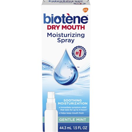 (3 pack) Biotene Gentle Mint Moisturizing Mouth Spray, Sugar-Free, for Dry Mouth and Fresh Breath, 1.5 ounce (Dry Mouth Spray)