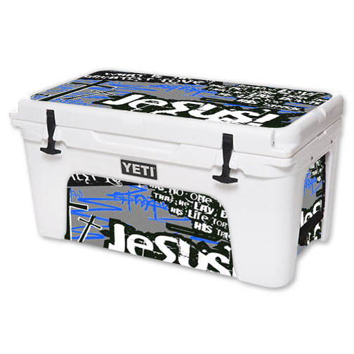 MightySkins Protective Vinyl Skin Decal for YETI Tundra 65 qt Cooler wrap cover sticker skins Love Jesus