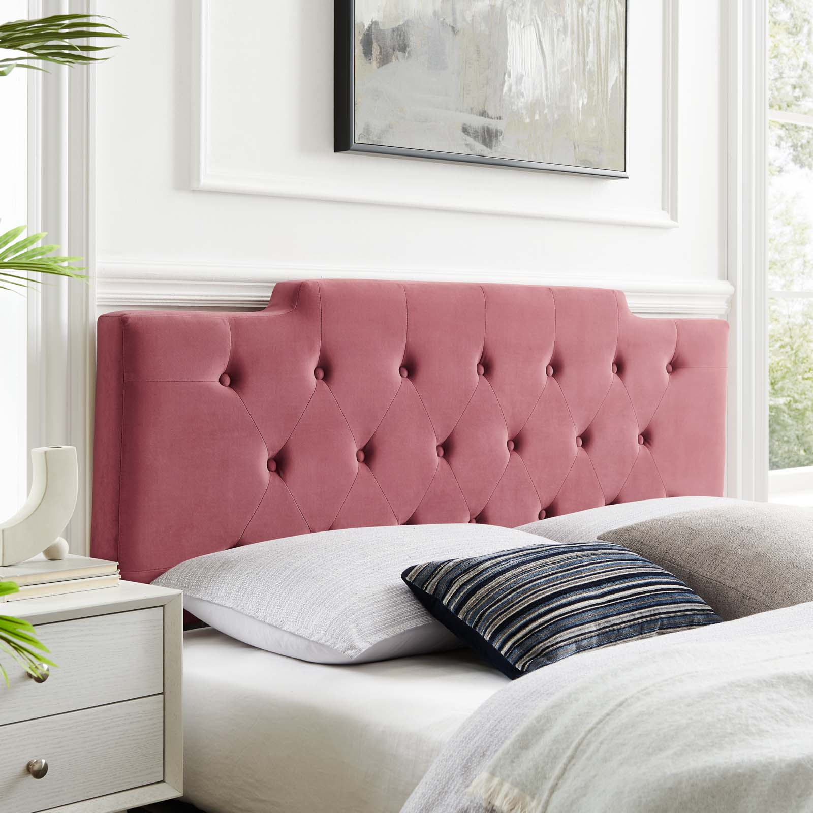 Modway Juliet Tufted Full Queen Performance Velvet Headboard Multiple Colors Walmart Com Walmart Com