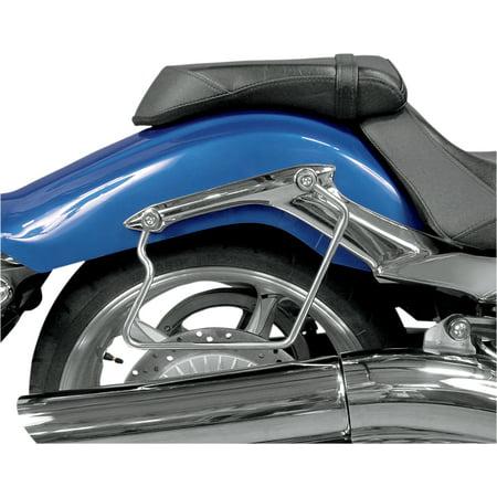 MC Enterprises 140-302 Chrome Saddlebag (Mc Chromed Saddlebag Support)