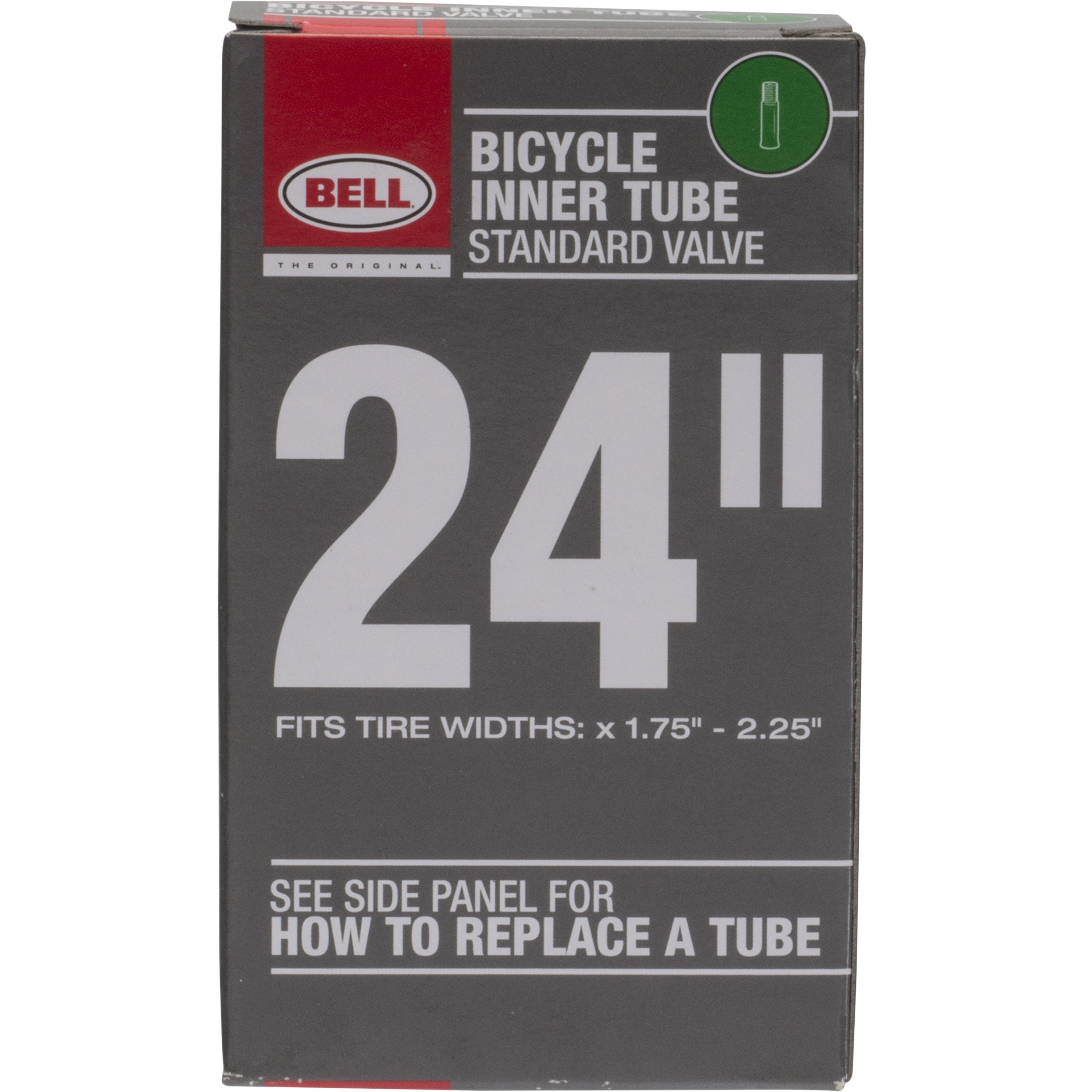 """Bell Sports Standard Schrader Replacement Bicycle Inner Tube, 24"""" x 1.75-2.25"""""""