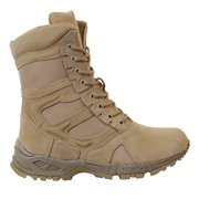 Rothco 5357 Forced Entry Desert Tan Tactical Combat Boots w/ Zipper