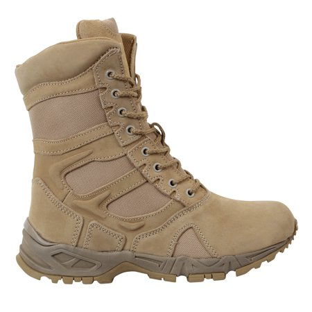 Rothco 5357 Forced Entry Desert Tan Tactical Combat Boots w/ Zipper Desert Combat Uniform Boots
