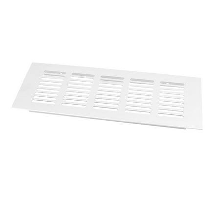Office Home 22.5cmx8cm Aluminum Alloy Rectangular Cabinet Air Vent Louver Cover