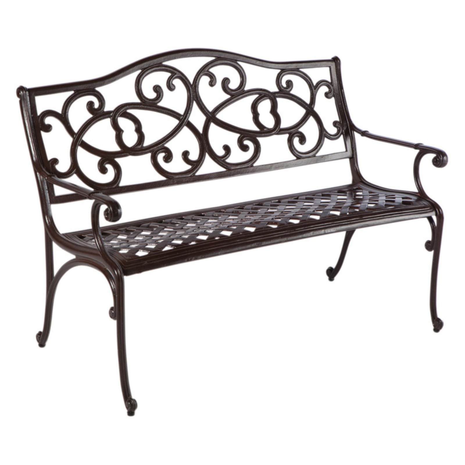Alfresco Daffodil 4 ft. Cast Aluminum Garden Bench - Aged...