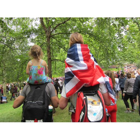 LAMINATED POSTER Fans People Family Hyde Park Flag Party London Poster Print 24 x - Halloween Party Hyde Park