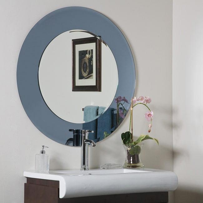 Decor Wonderland Camilla Round Modern Bathroom Mirror by Overstock
