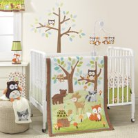 Bedtime Originals Friendly Forest Woodland 3 Piece Bedding Set Green Brown