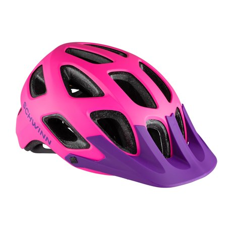 Schwinn Excursion Youth Bicycle Helmet, ages 8 - 13, pink / purple Pink Riding Helmet