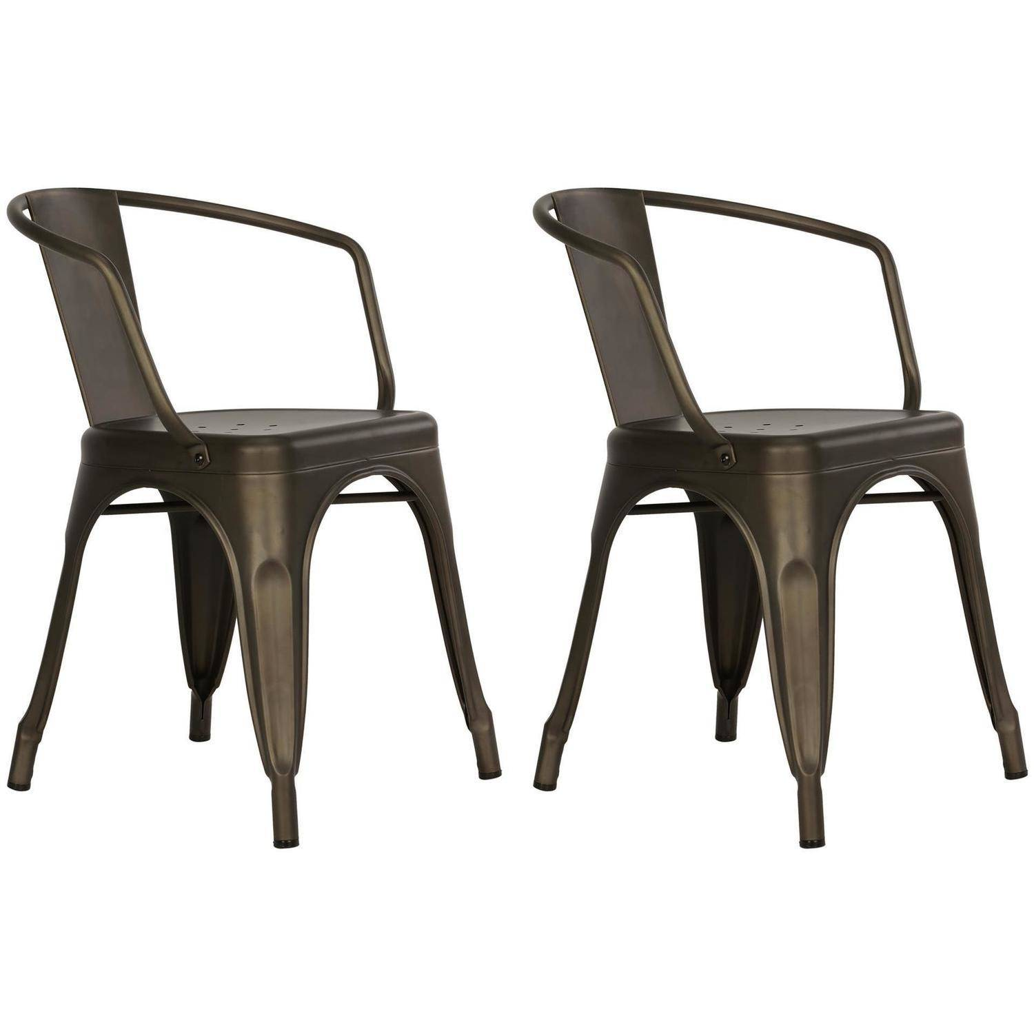 Dorel Home Products Elise Metal Dining Chair, Set Of 2, Multiple Colors    Walmart.com
