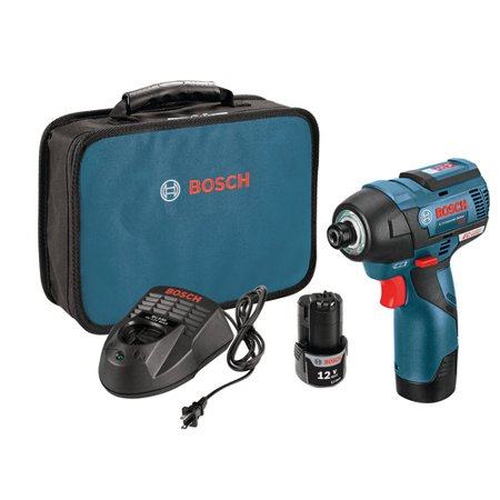 Bosch PS42-02 12V Max 2.0 Ah Cordless Lithium-Ion EC Brushless 1/4 in. Hex Impact Driver Kit