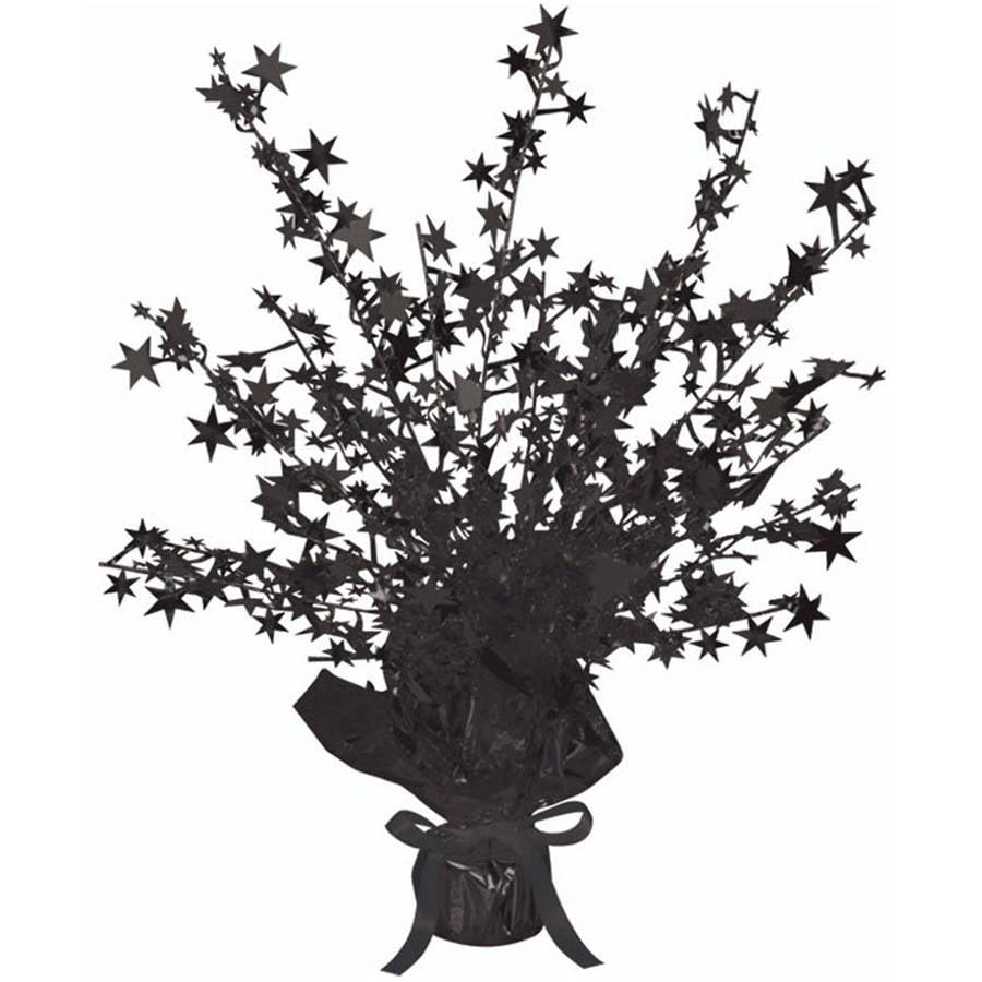 Black Foil Star Gleam 'N Burst Centerpiece