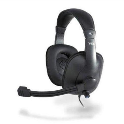 Premium Usb Stereo Headset K-12 Noise Cancel Mic Leatherette