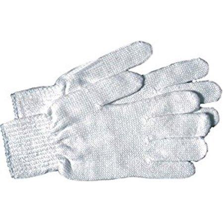 Men's Large White Reversible String Knit Gloves