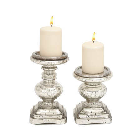The Traditional Set Of 2 Glass Candle Holder](Candle Holder Sets)