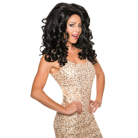 Brown Movie Star Rupaul Drag Queen Curly Big Hair Wig - Drag Halloween