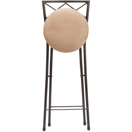 Diamond X-Back Folding 30 Inch Bar Height Stool Bronze Finish, Multiple Colors