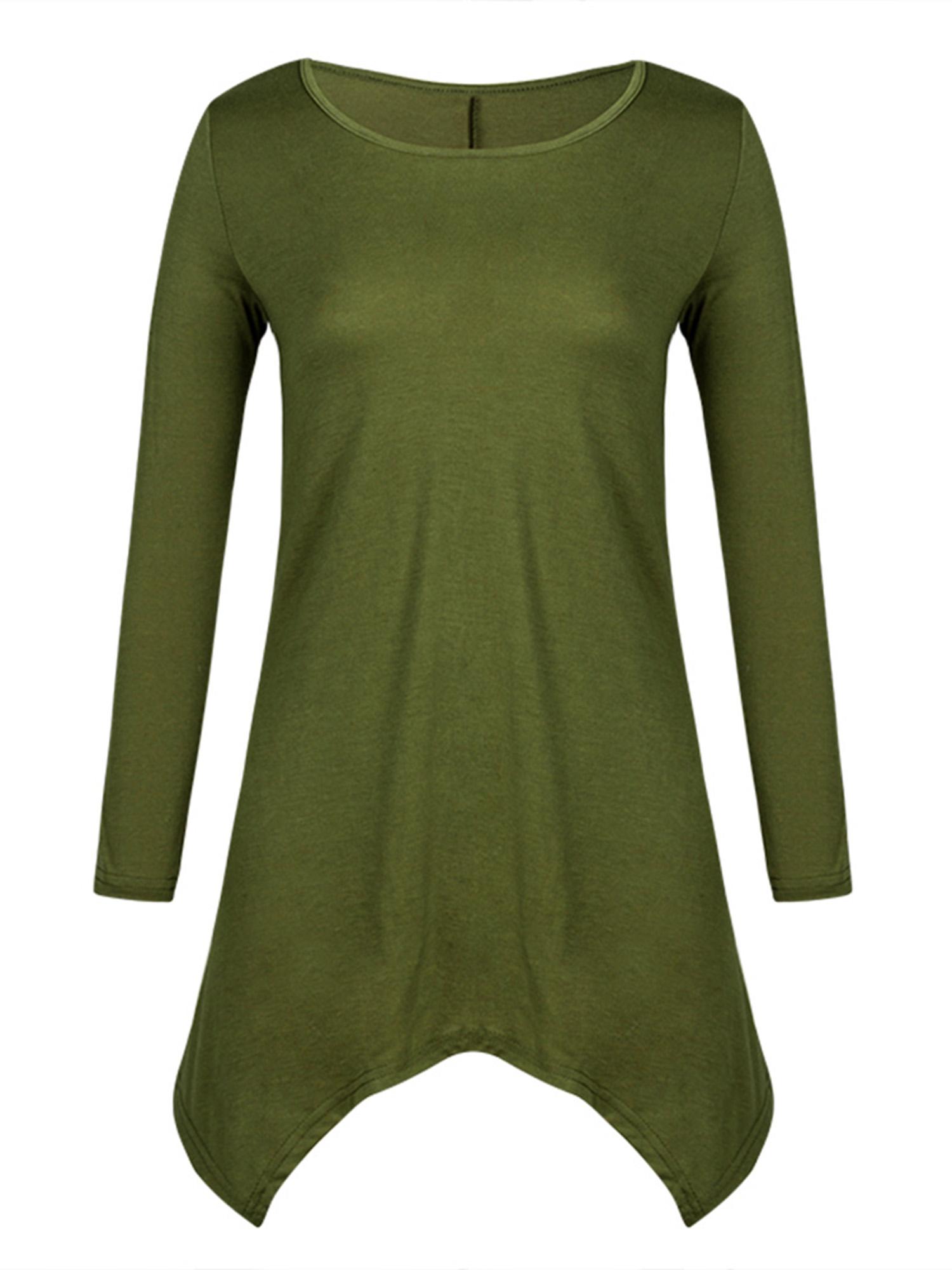 Phoebe Cat 3/4 Sleeve Tunic Tops Dress for Women, Irregular Hem Pullover...