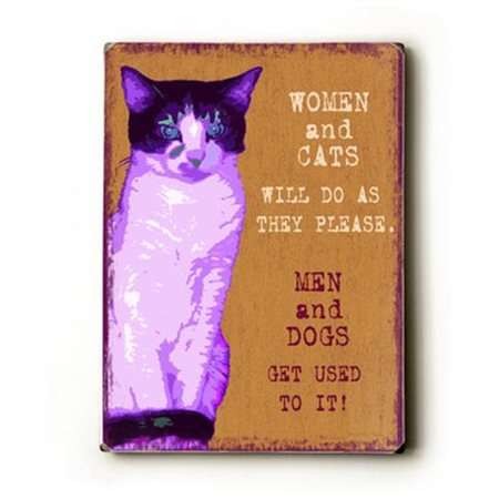 Artehouse LLC Women and Cats by Kate Ward Thacker Graphic Art Plaque