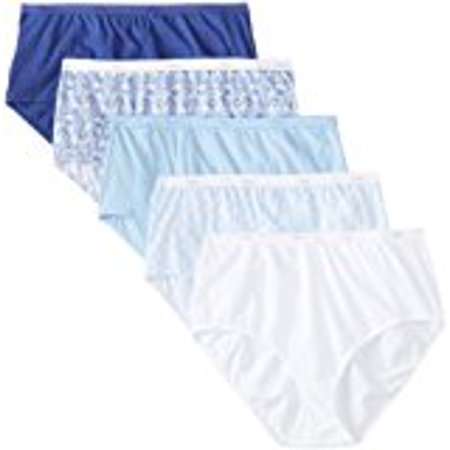 Women's Plus Size Cotton Briefs, 5 Pack 5 Combed Cotton Briefs