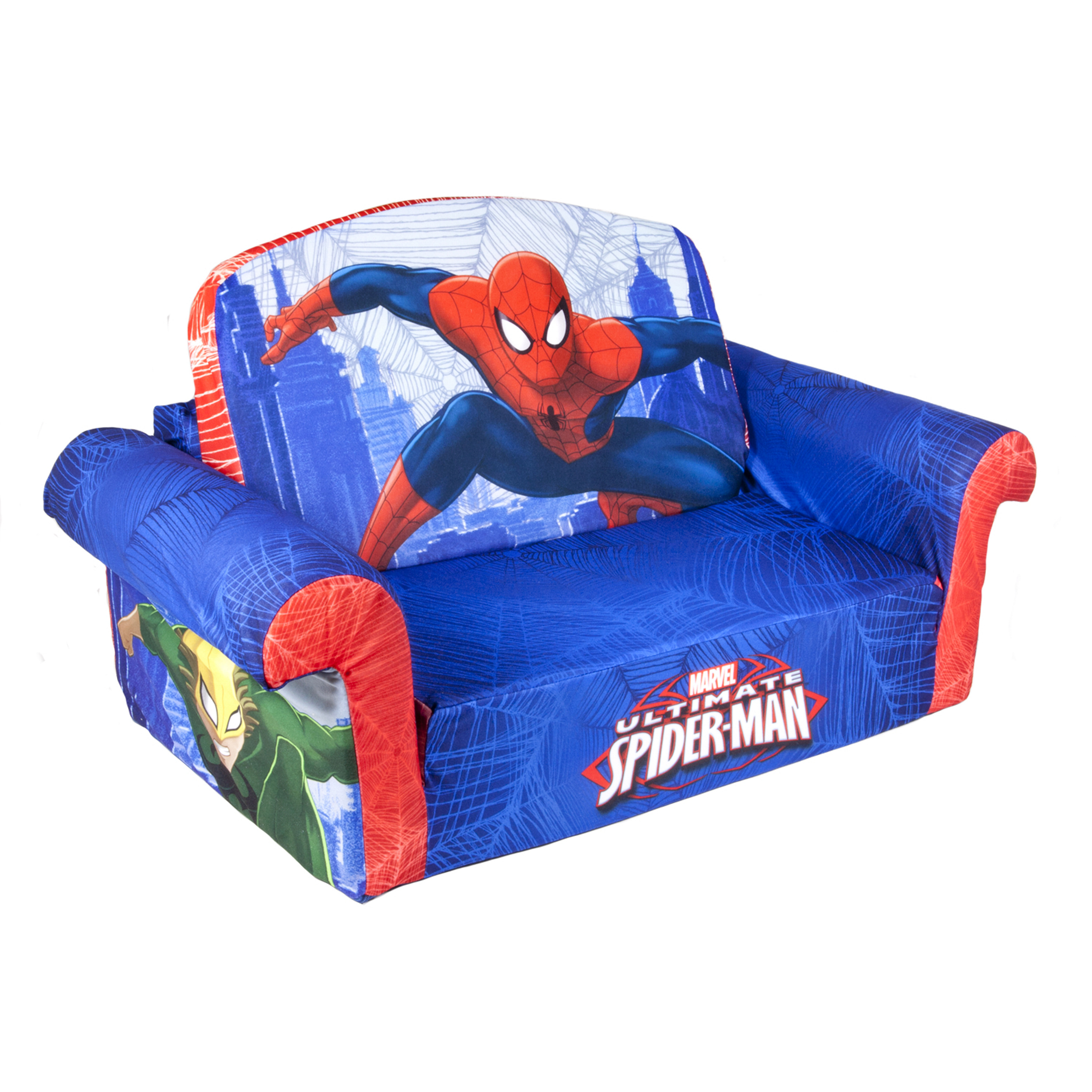 Top Quality Marshmallow Marvel Spider Man Flip Open Foam Sofa Kids  Furniture | EBay