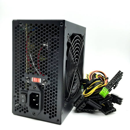 KENTEK 650 Watt 650W Black 12cm 120mm Fan ATX Power Supply 12V SATA 20/24 PIN PCI EXPRESS PCI-E Intel AMD by