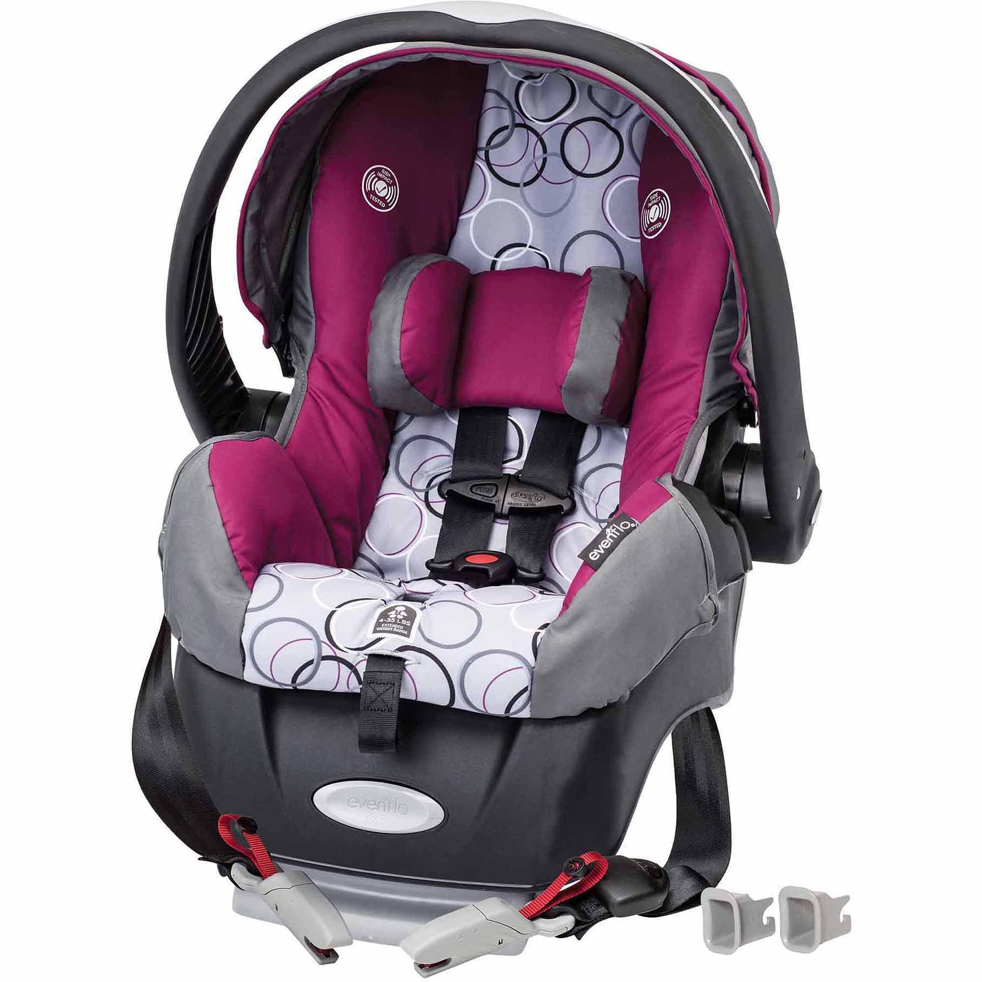 Evenflo Embrace Select Infant Car Seat w /  SureSafe Installation, Choose Your Pattern