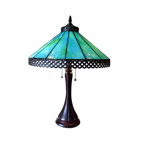 Chloe Tiffany Style Mission Design 2-light Antique Bronze Table Lamp - Tiffany Bronze Swing