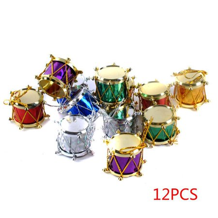 Joyfeel Clearance 6/12pcs Christmas Tree Ornament Snare Drum Tree Hanging Ornaments Xmas Decor ()