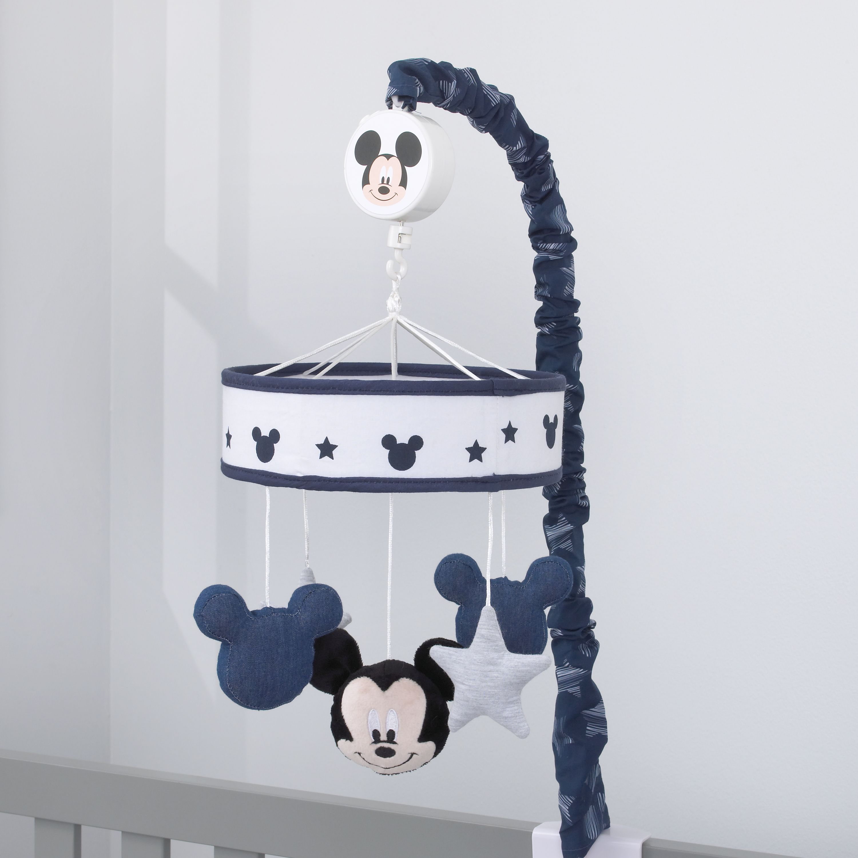 Disney Mickey Mouse Hello World Star/Icon Nursery Crib Musical Mobile