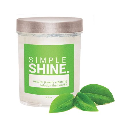 Simple Shine 100% All Natural Jewelry Cleaner Solution | Naturally Derived Cleaning Gold, Silver & Platinum Clean