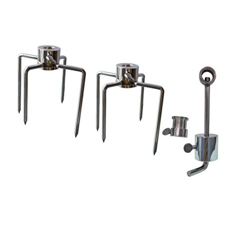 Fork Leg Kit (Grill Replacement Rotisserie Meat Forks Kit with Spit Counter Balance &)