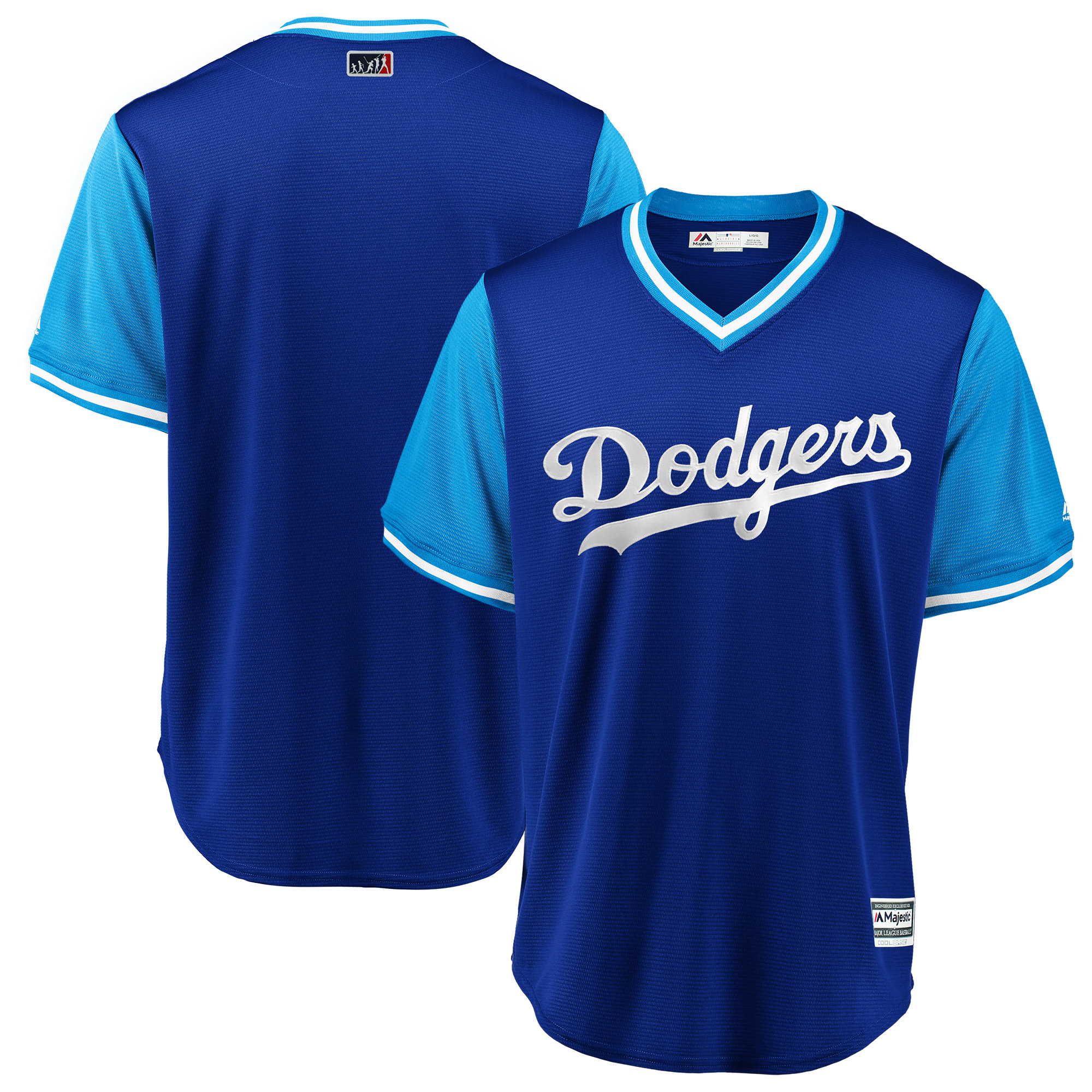Los Angeles Dodgers Majestic 2018 Players' Weekend Team Jersey - Royal/Light Blue