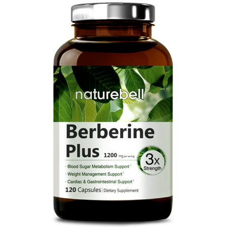 NatureBell Berberine Plus, 600mg,120 Capsules, Made in USA, Support Blood Sugar, Digestive System & Cardiac Health for $<!---->