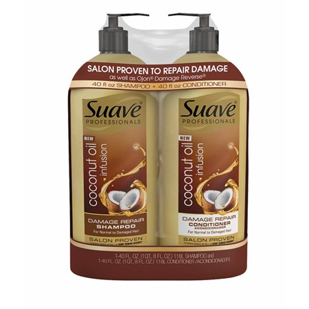 Product of Suave Professionals Coconut Oil Infusion Damage Repair Shampoo, 40 oz. and Conditioner, 40 oz. - Hair Treatments [Bulk (Best Coconut Oil Brand For Hair In Pakistan)