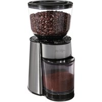 Mr. Coffee Automatic Silver Burr Mill Grinder with 18 Custom Grinds