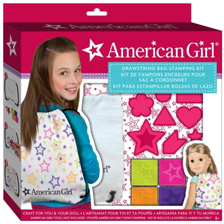 American girl drawstring backpack kit kids crafts by for American girl craft kit