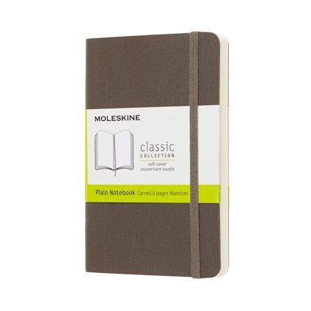 Moleskine Classic Notebook, Pocket, Plain, Brown Earth, Soft Cover (3.5 X 5.5) (Other)