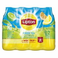 (2 Pack) Lipton Green Citrus Iced Tea, 16.9 Fl Oz, 12 Count