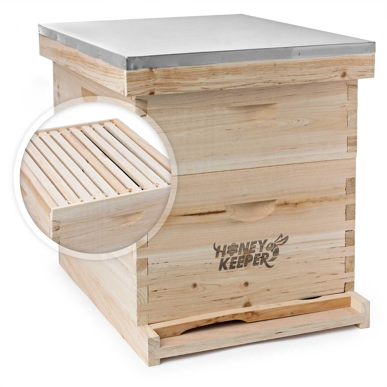 GoodLand Bee Supply GL-2B1SK-ER Beekeeping Double Deep Box Beehive Kit