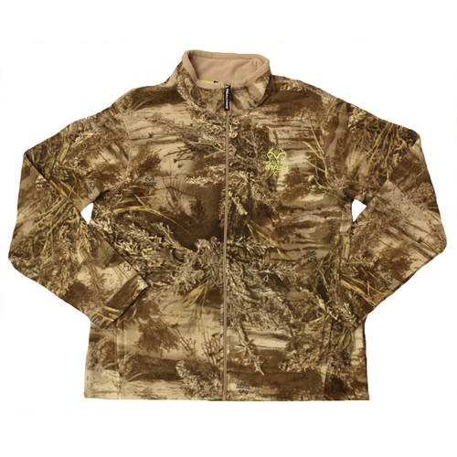 Men's Fleece Camo Full-Zip Jacket, Available in Multiple Patterns by Generic