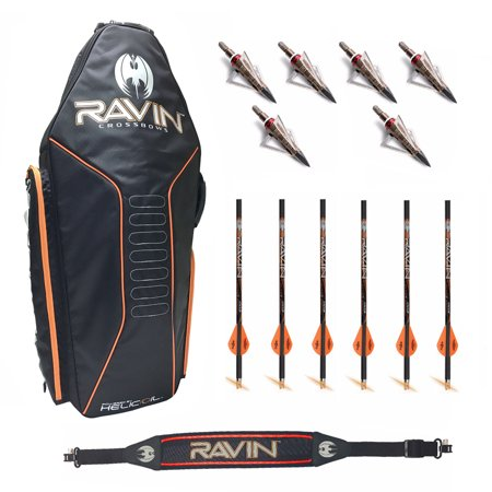Ravin Crossbows Soft Case with Shoulder Sling and 6 Lighted Broadhead Arrows
