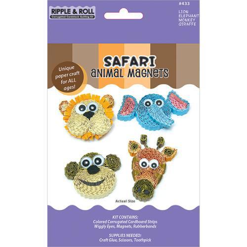 Quilling Magnet Kit-Safari Animal