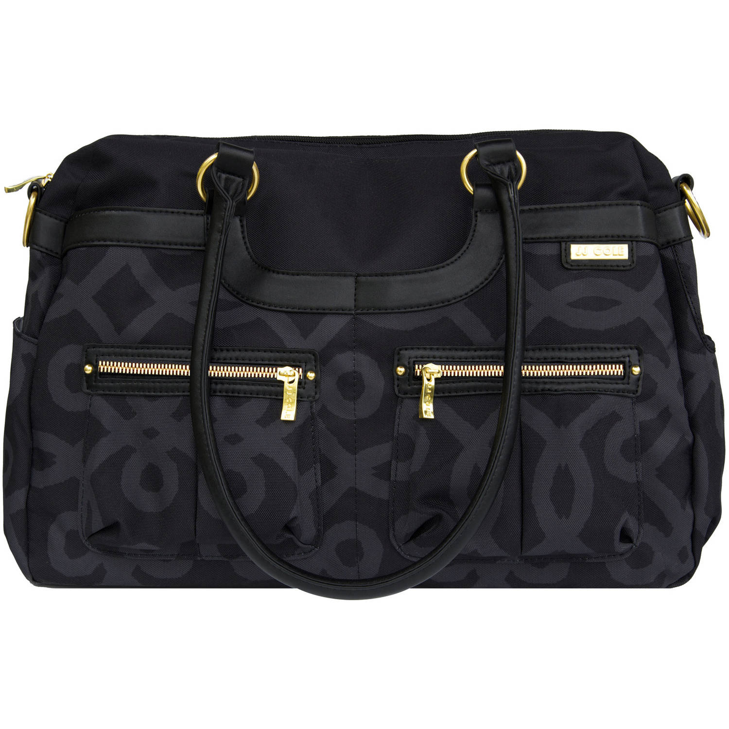 JJ Cole Satchel, Black and Gold