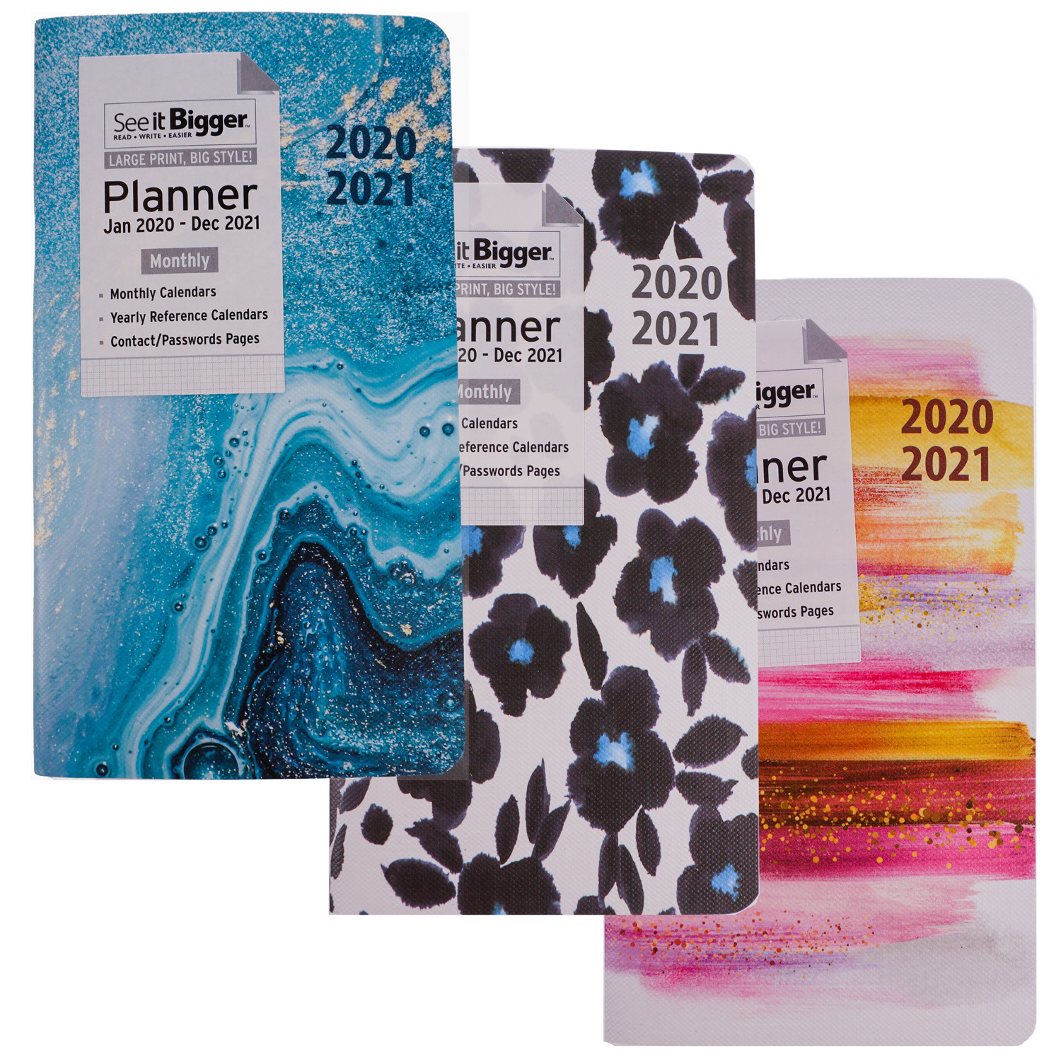See It Bigger Pocket Planner Jan 2020 Dec 2021 Monthly 3 75 X 6 75 Walmart Com Walmart Com