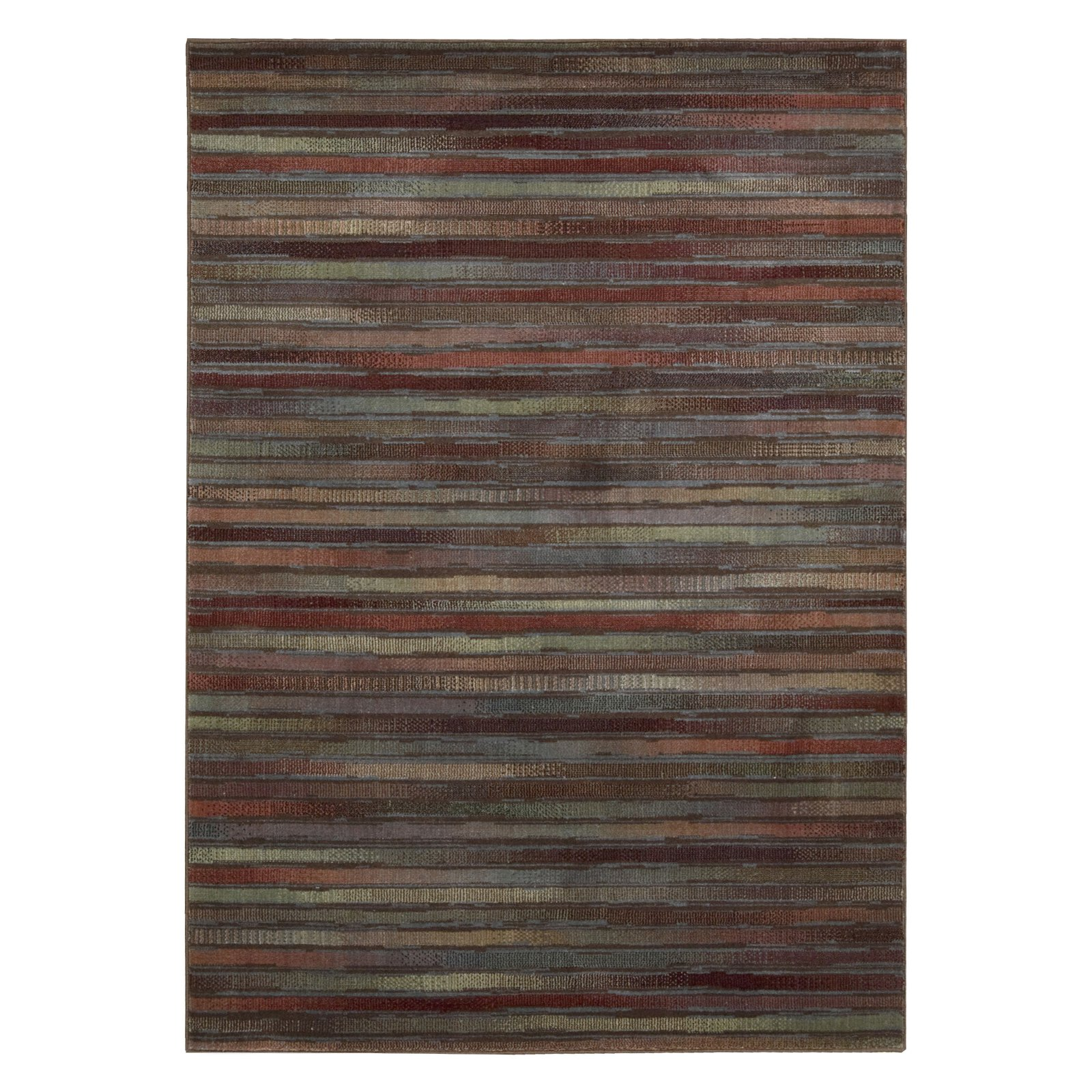 Nourison Colored Lines Machine Woven Rug, Multi-Color
