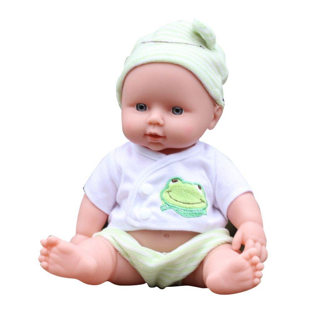 "Spencer 12"" Lifelike Newborn Silicone Vinyl Reborn Gift Baby Doll Handmade Dolls Green"