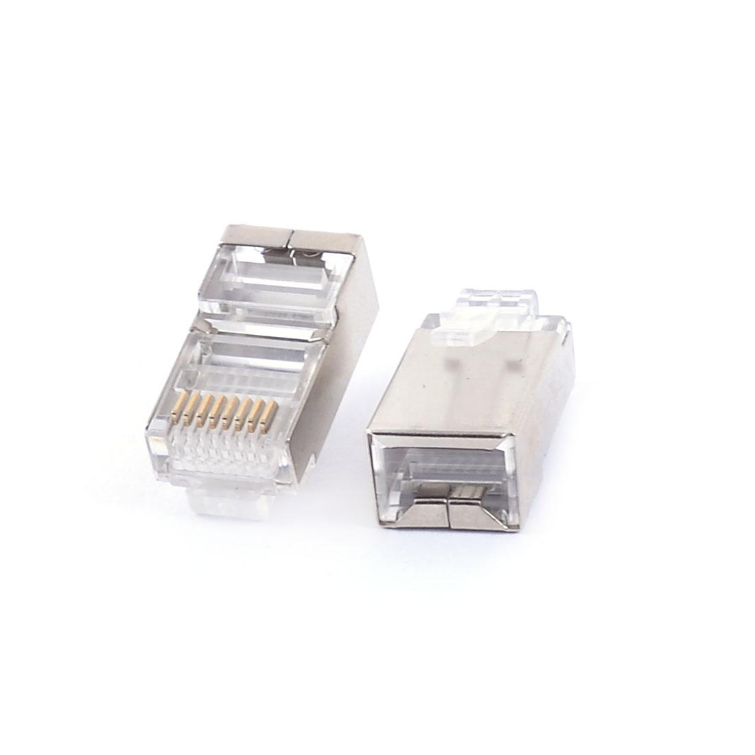 RJ45 8P8C CAT5 Modular Network Crimp Adapter Ethernet Jack Connector 7Pcs - image 1 of 2